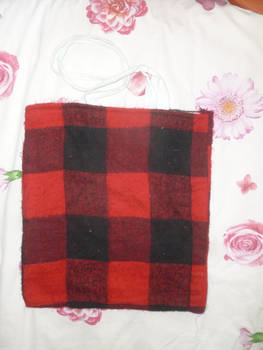 Plaid patterned tote bag