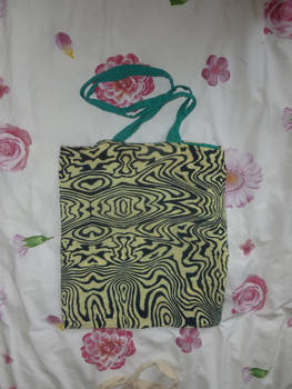 Zebra pattern tote bag