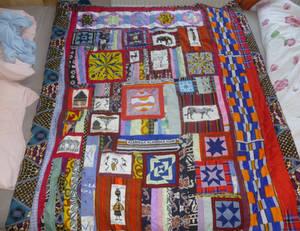 Kenyan quilt top complete