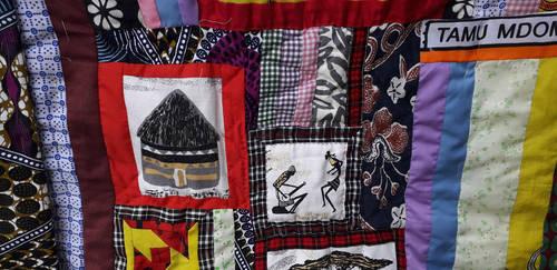 Kenyan quilt detail