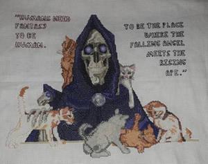 Death of Discworld cross stitch