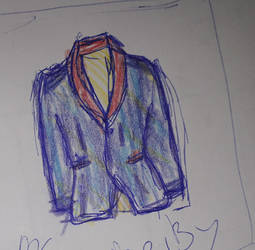 Coat of many colours patch sketch