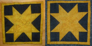 Patchwork quilted star tutorial finishes