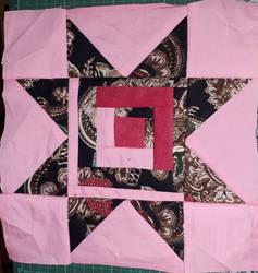 Pink Roof kitenge pillow