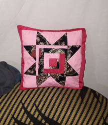 Pink Roof Kitenge Pillow FINISHED