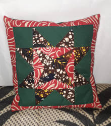 Lost in the Woods quilted kitenge pillow