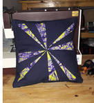Desire quilted kitenge pillow by BellaGBear