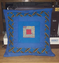 Pools of Desire Quilted Kitenge Pillow