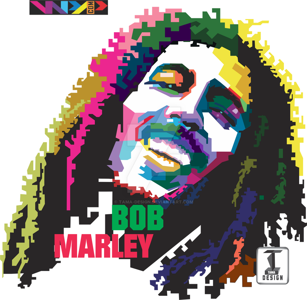 Design t shirt png -  Bob Marley In Wpap Design For T Shirt By Tama Design
