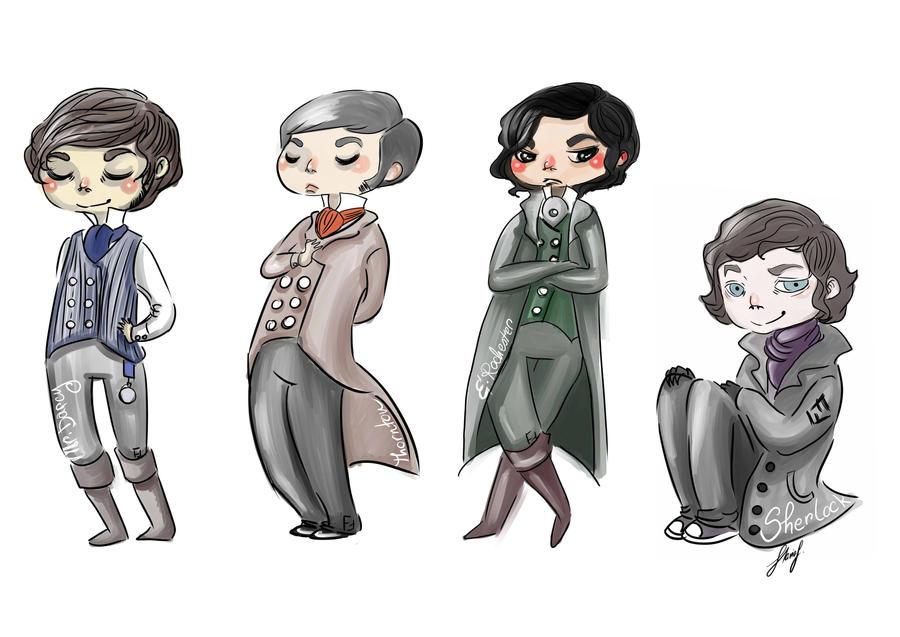 Odd Mix of Gents and Sherlock by K9Darkice