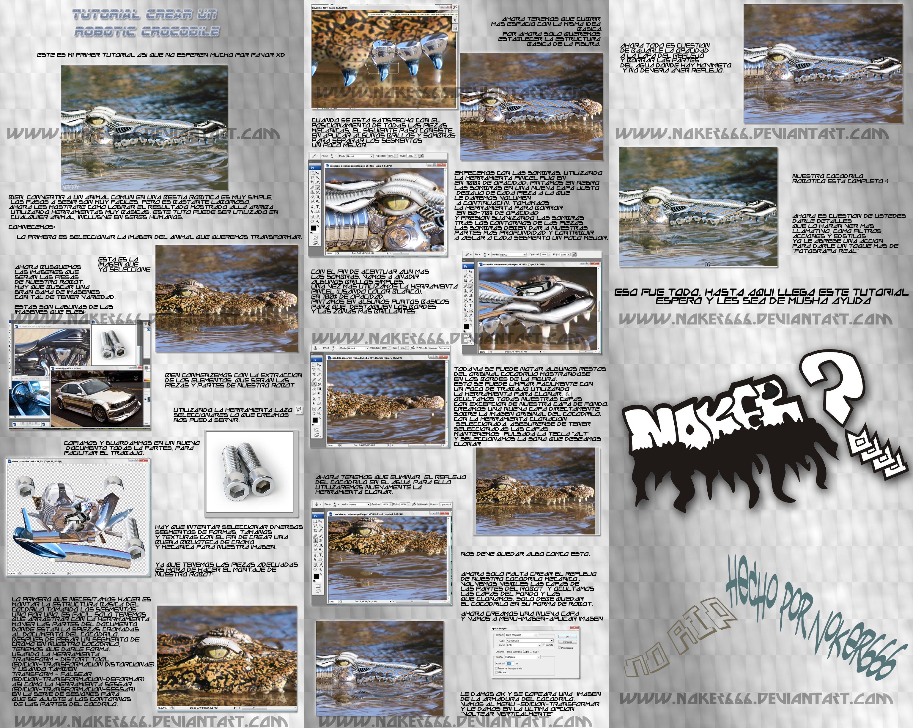 Mechanic Crocodile Tutorial by Noker666