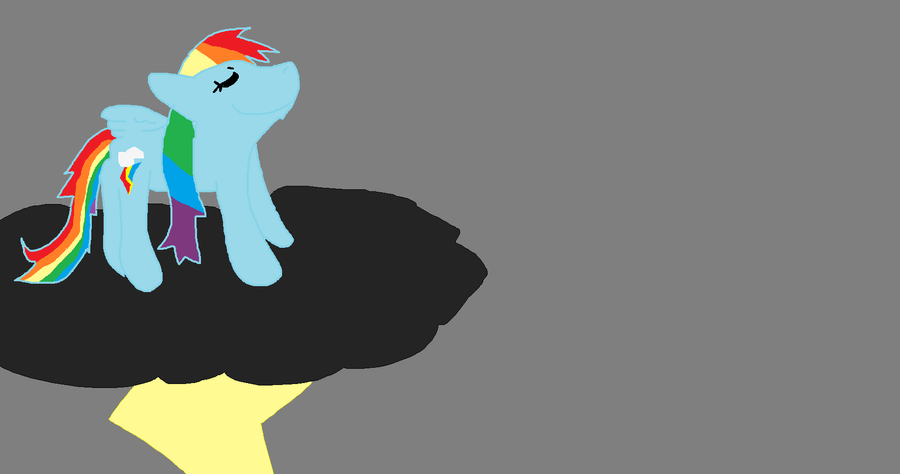 Rainbowdash again c: by Demonthewolf456789