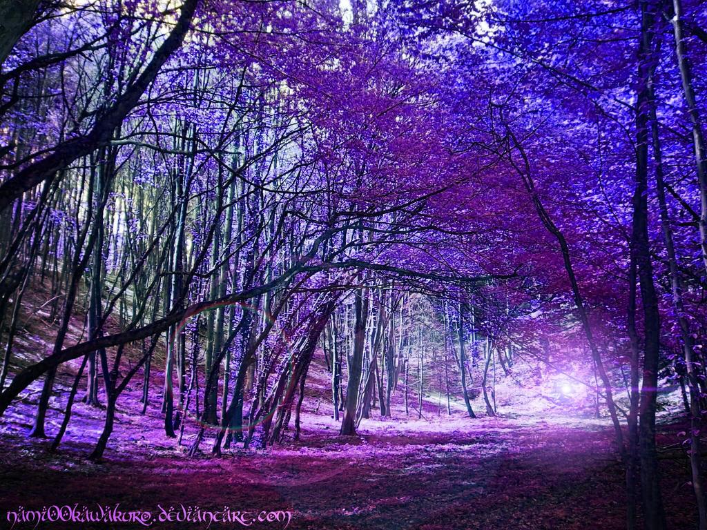 Purple Trees by Nami00Kawakuro on DeviantArt