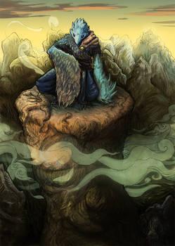 Karasu Tengu on the cliff (final version)