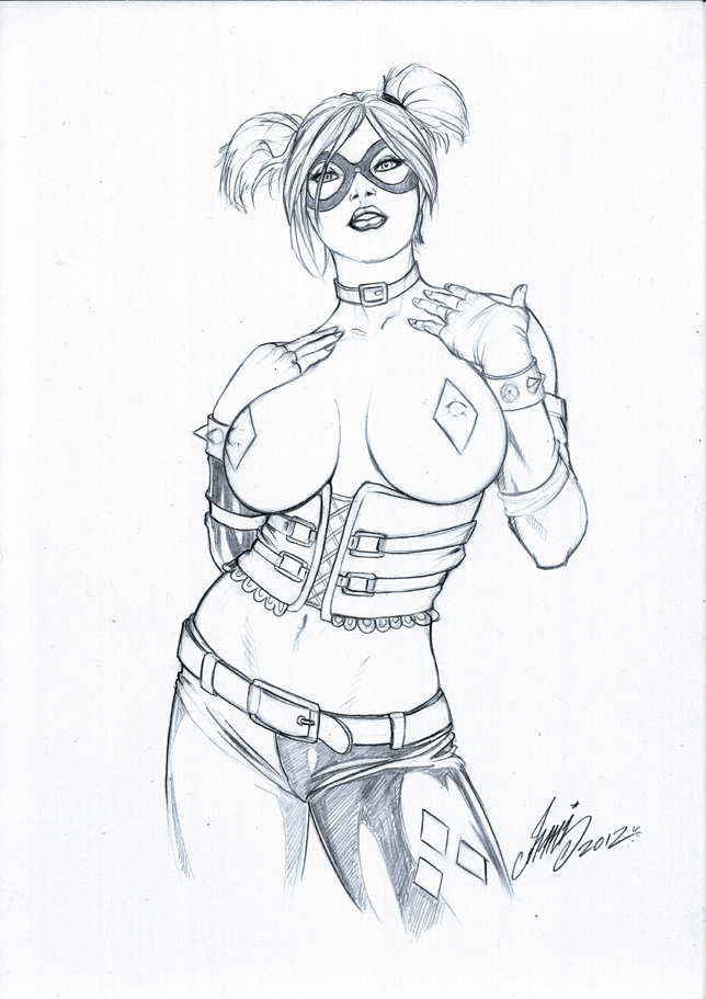 Harley quinn pencil by hm1 by hm1art