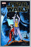 Joker and Harley Quinn Star Wars Cover Batman by HM1art