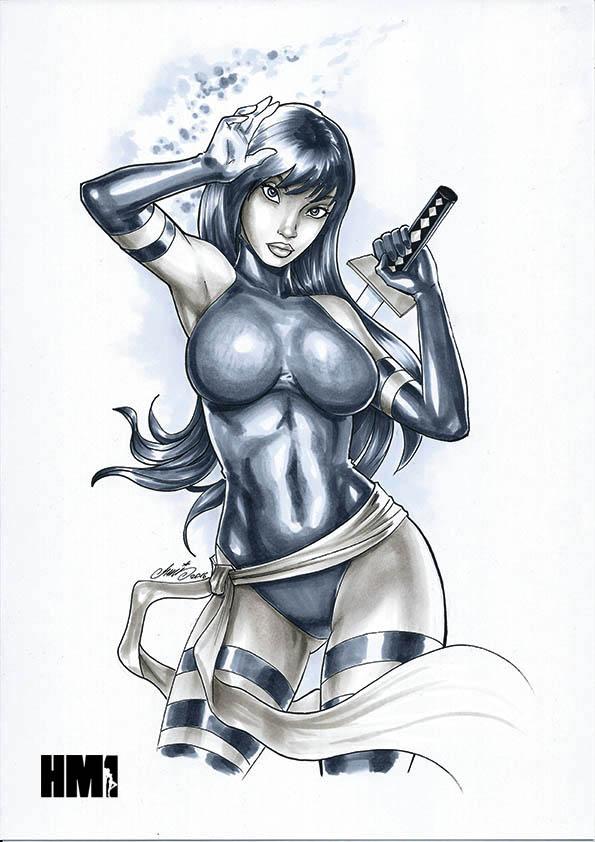 Psylocke by HM1art