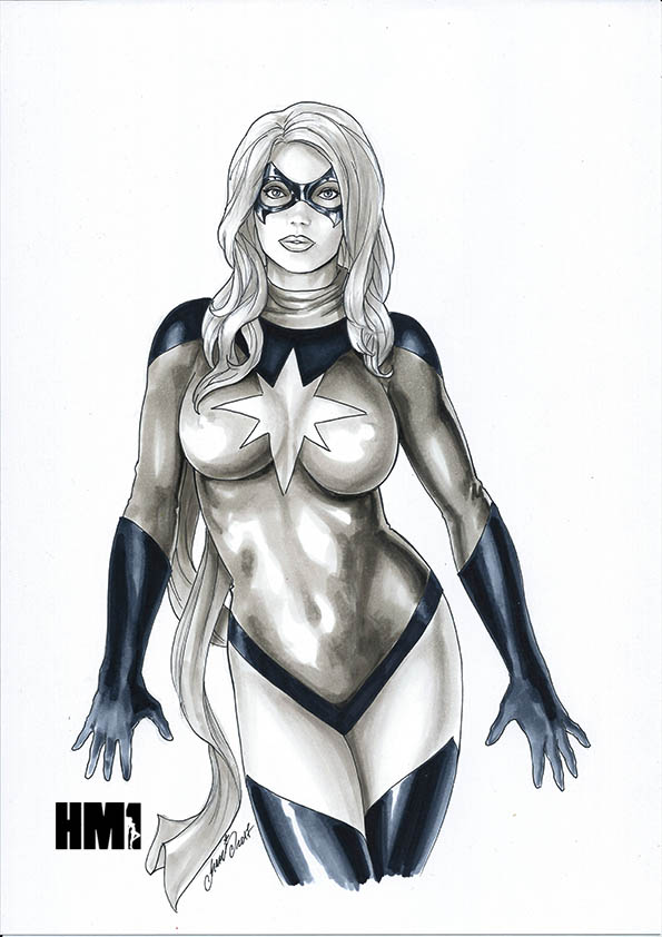 Sexy Moonstone Ms Marvel Carol Danvers by HM1art