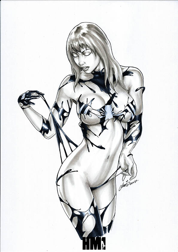 Mary Jane / Venom - Amazing Spider-Man by HM1art