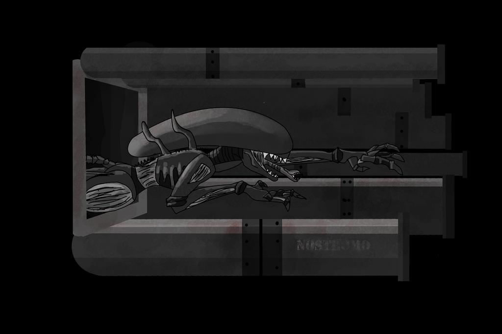 Monsters in Literature: Alien by 12izzy3
