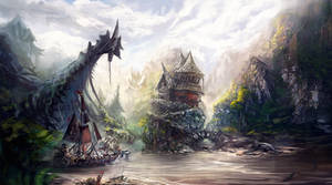 The pirate village