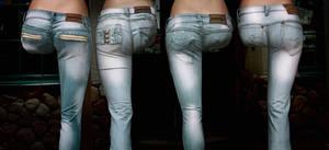 Jeans costing a leg