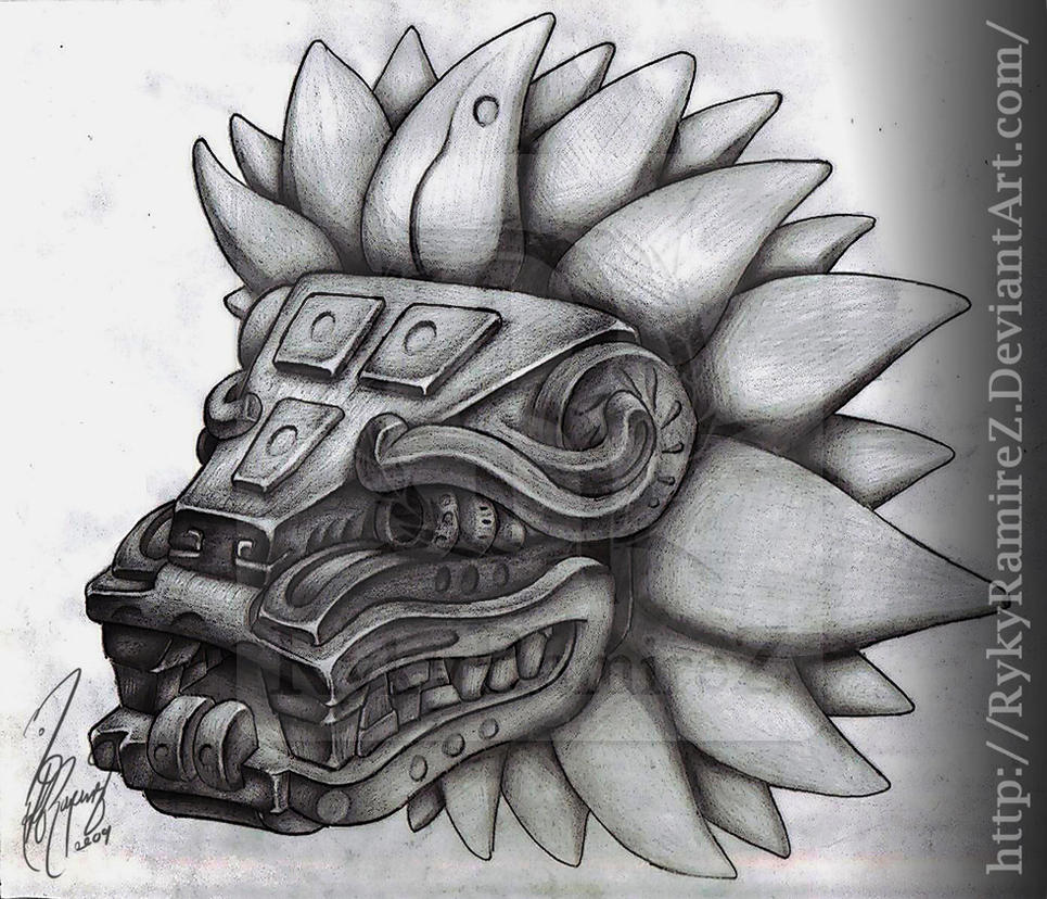 quetzalcoatl aztec drawing - photo #5