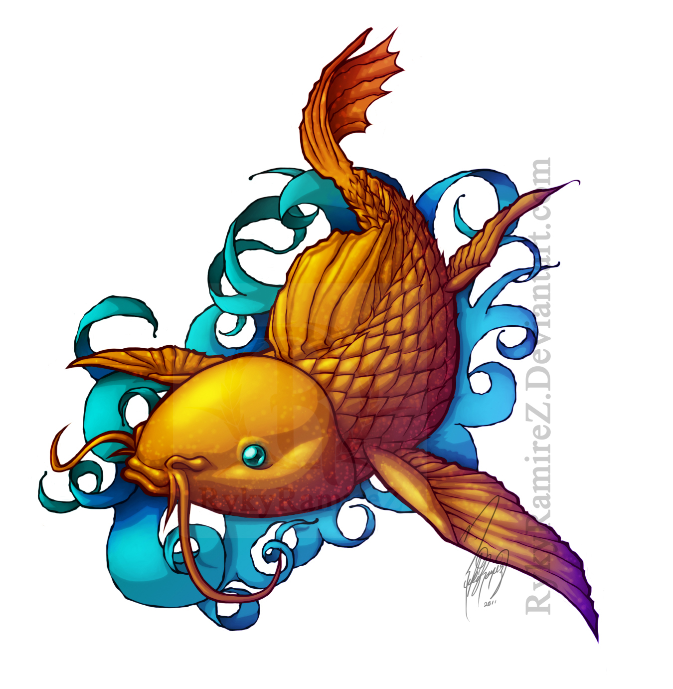 Carpa koi by rykyramirez on deviantart for Carpa koi costo