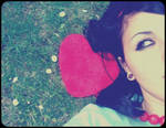 heart in the grass.