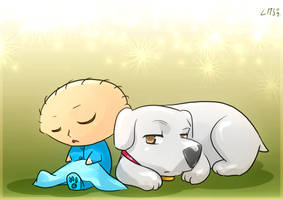 Stewie and Brian by KatiraMoon