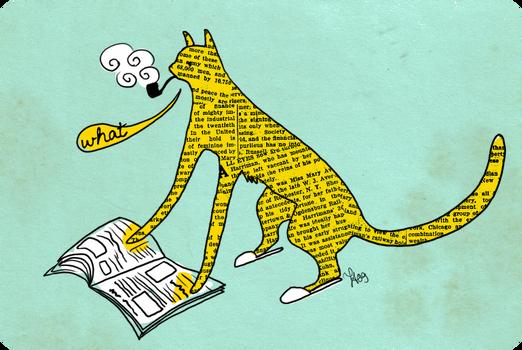 I see a cat reading newspaper