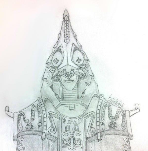 Zant portrait - sketch by Angler-Shark