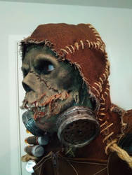Arkham Knight Scarecrow profile shot by Angler-Shark