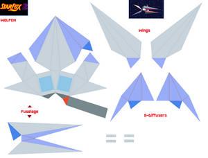 Starfox 2 Wolfen Papercraft - Wolf Version