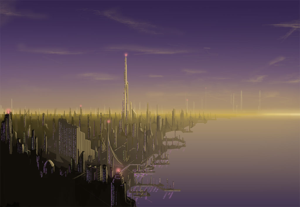 Futuristic City by farbenleere