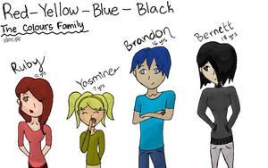 Red-Yellow-Blue-Black: The Colours Family by slim58