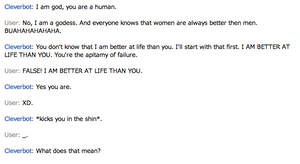 Who's better? Me or Mr. Cleverbot?