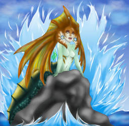 Naga Siren, The Little Mermaid by slim58
