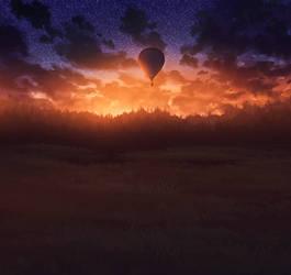 Journey on the air balloon