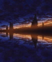 Late sunset