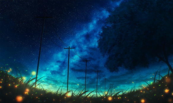 Glowing night