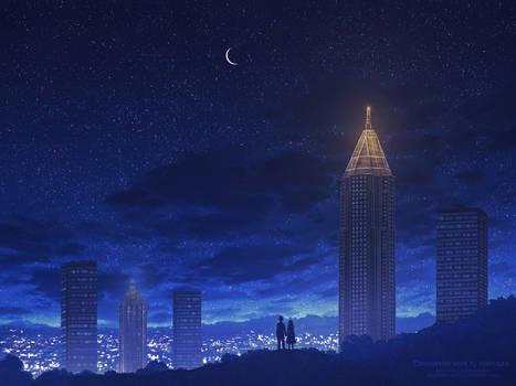 Atlanta skyline - Commission artwork