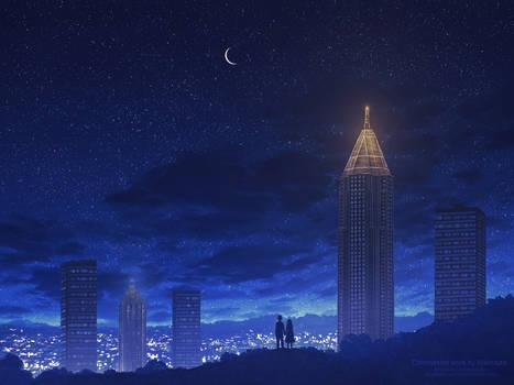 Atlanta skyline - Commission artwork