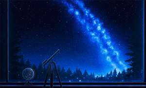 Astronomy night - version 2 - Commission work