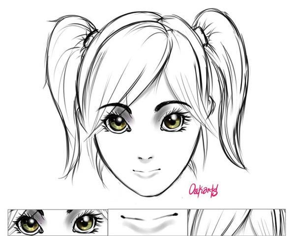 Manga face study 1 by oscarb8912 on deviantart - Visage manga fille ...