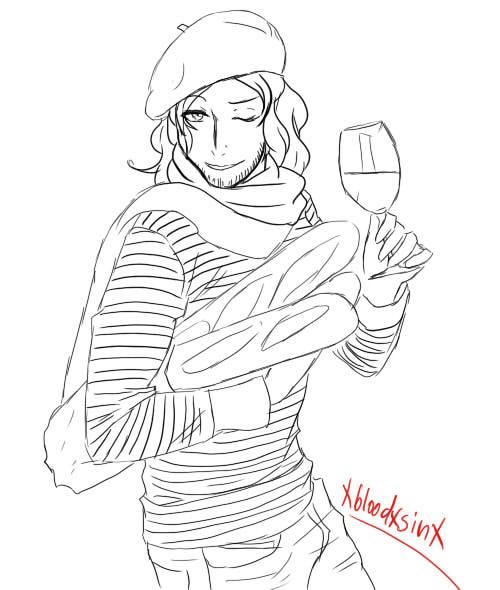 Francis drinking by xbloodxsinx