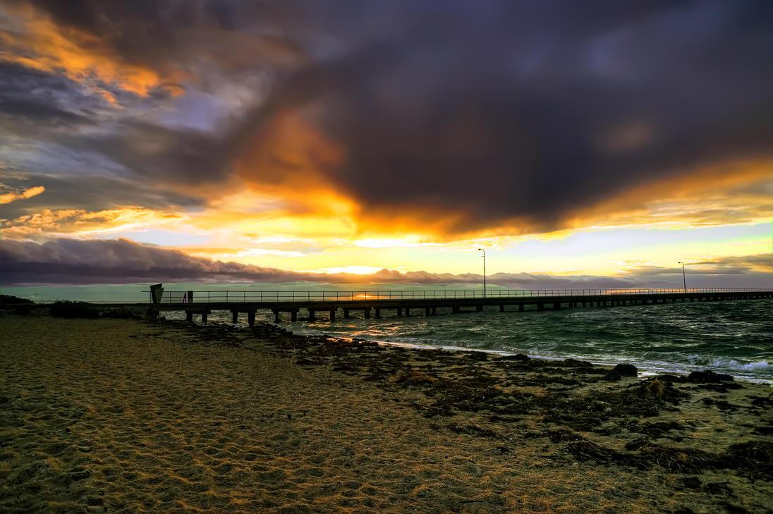 Rosebud Pier by djzontheball