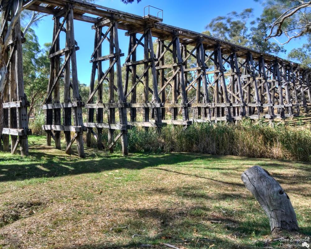 Mollisons Creek Trestle Bridge by djzontheball