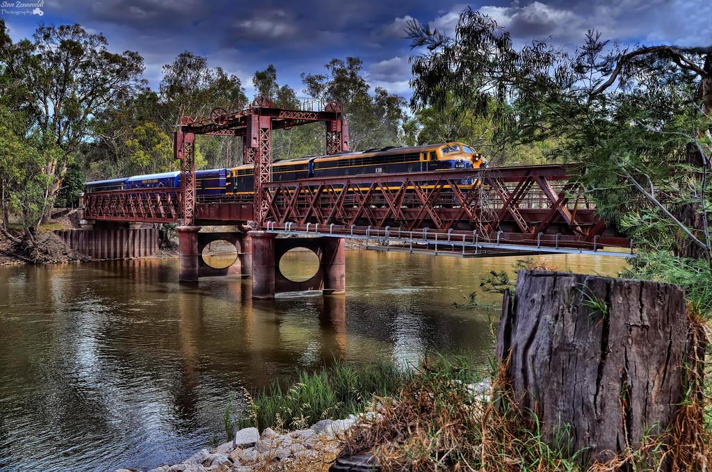 Spirit Of Progress Crossing Tocumwal Rail Bridge by djzontheball