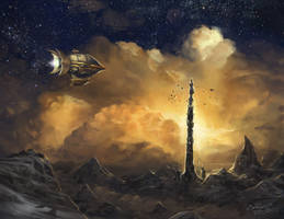 Kefka's Tower by calonarang